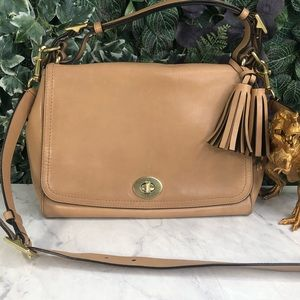 Coach Legacy Romy Tan Leather Tassel Crossbody